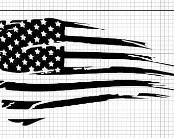 340x270 Reflective Tattered Flag Decaltattered Flagflagusa Etsy