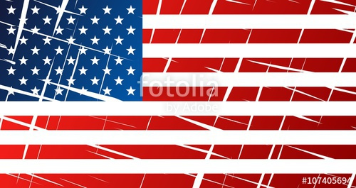 500x265 Tattered Flag Of United States Of America, Usa Stock Image And