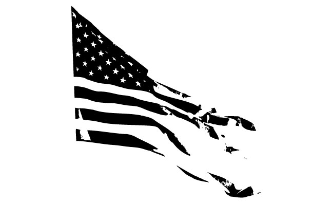 645x395 American Flag Clipart Torn