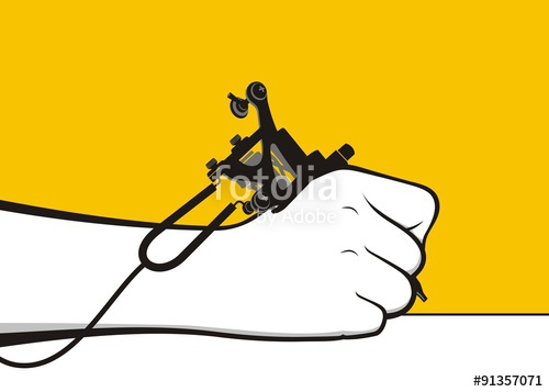 500x357 Hand Holding Tattoo Machine Stock Image And Royalty Free Vector