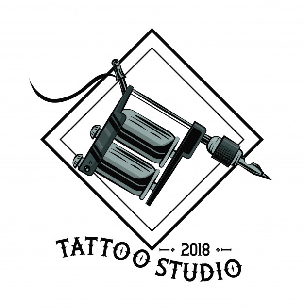 626x635 Old School Tattoo Machine Drawing Design Vector Premium Download