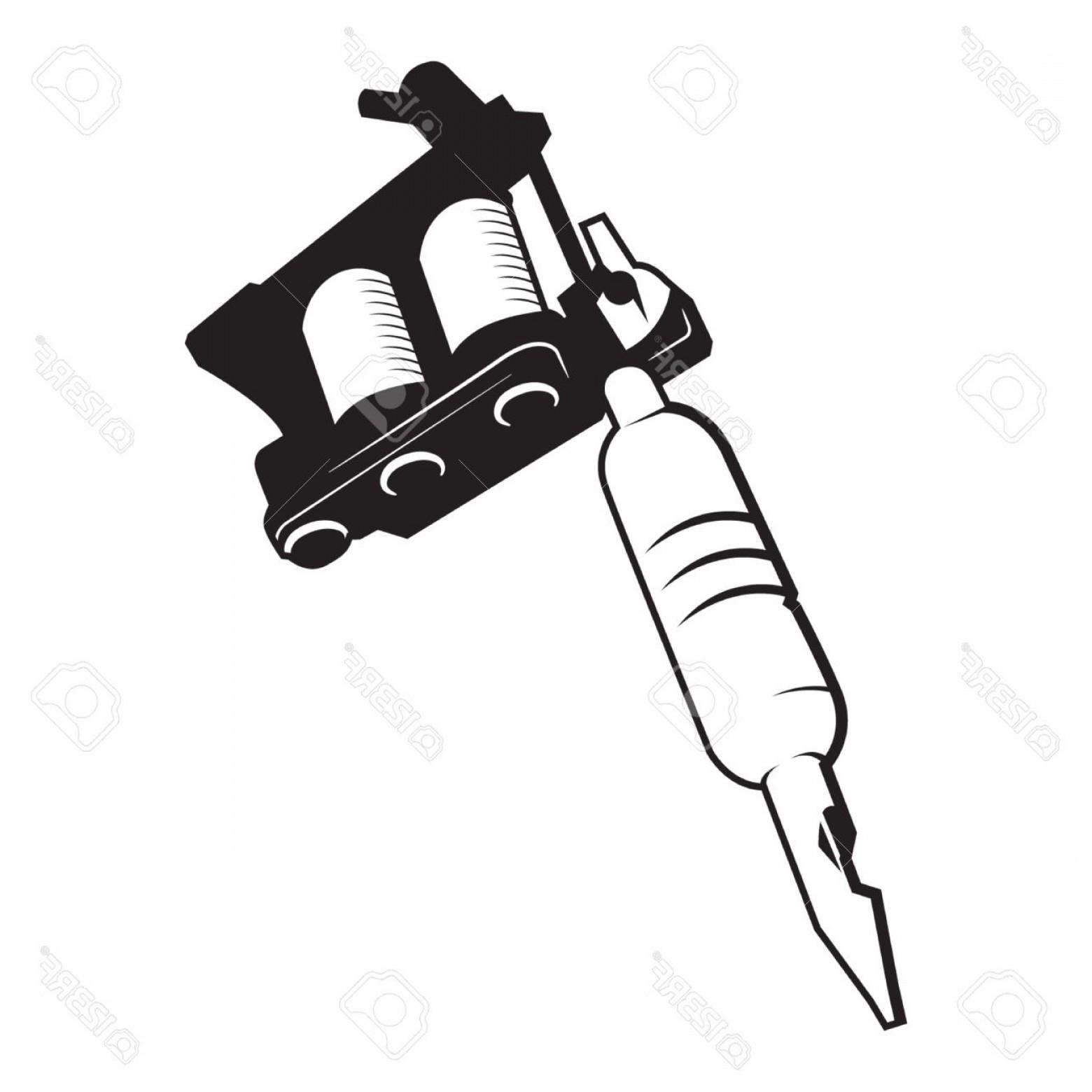 1560x1560 Photostock Vector Tattoo Gun Machine Vector Lazttweet