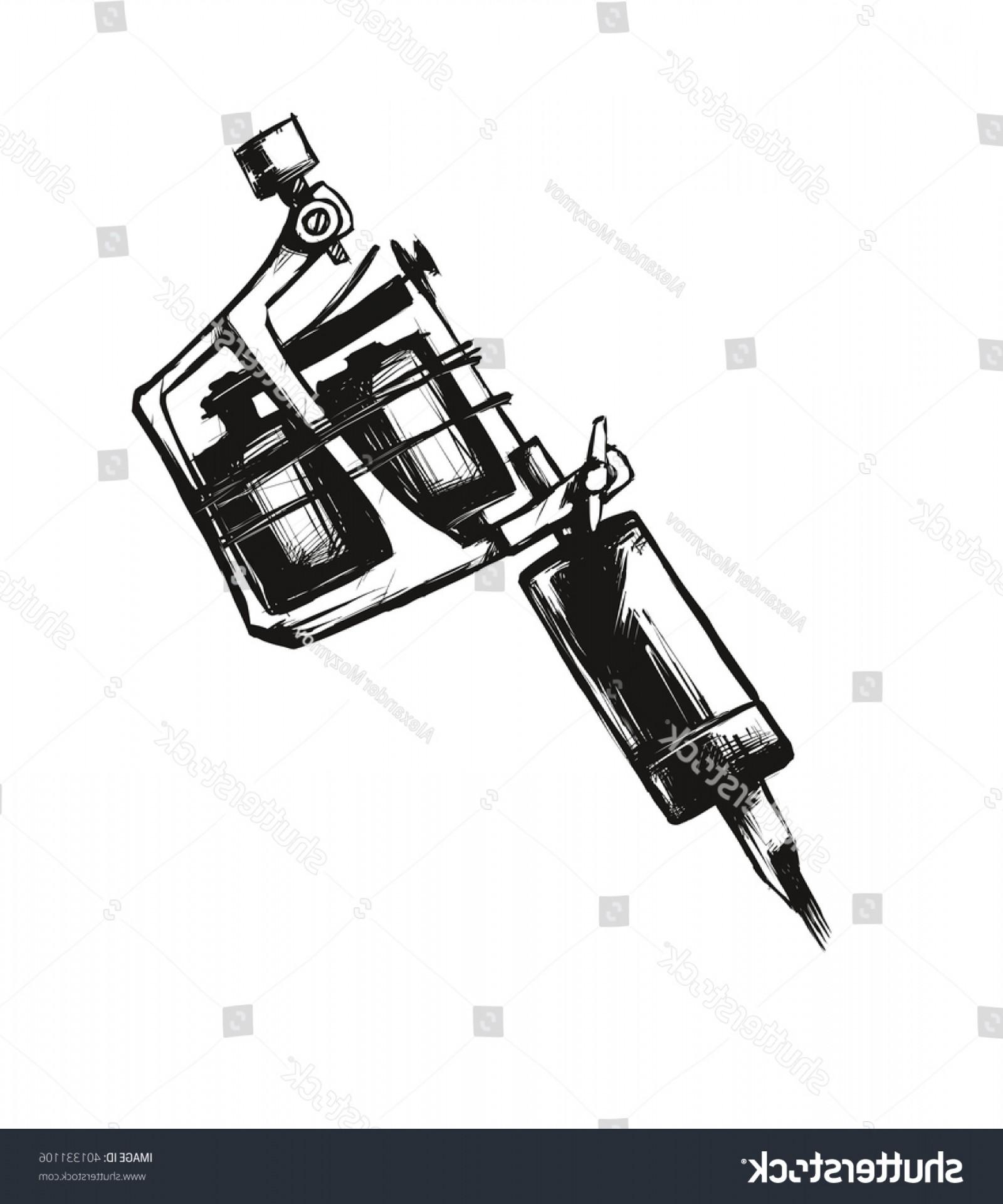 1600x1920 Tattoo Machine Vector Illustration On White Geekchicpro