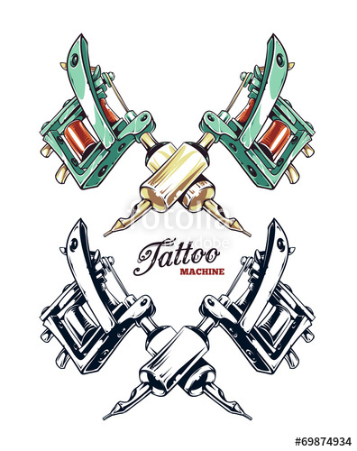 396x500 Tattoo Machine Vector Stock Image And Royalty Free Vector Files
