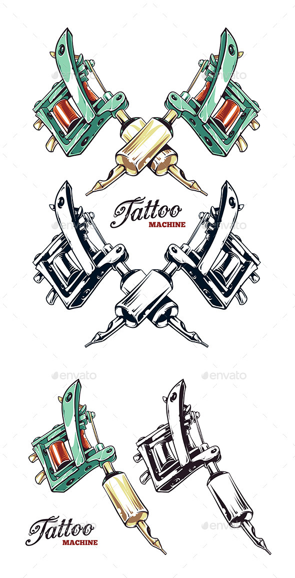 590x1155 Tattoo Machine By Vecster Graphicriver