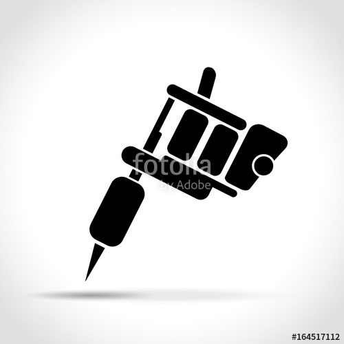 500x500 Tattoo Machine On White Background Stock Image And Royalty Free