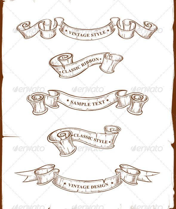Tattoo Ribbon Vector