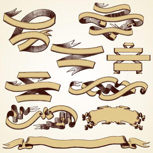 500x500 Old Ribbon Tattoo Designs
