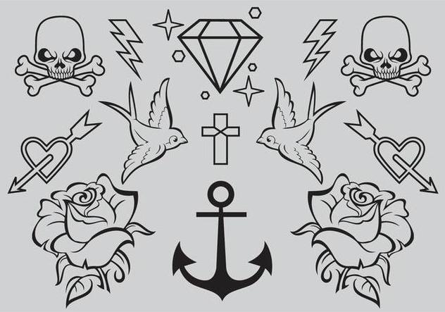 632x443 Old School Tattoo Vectors Free Vector Download 346695 Cannypic