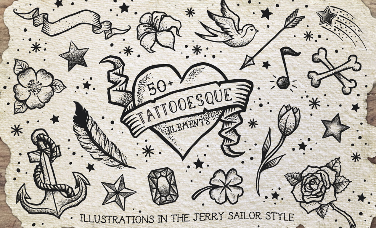 1270x770 Tattoo Vector Pack