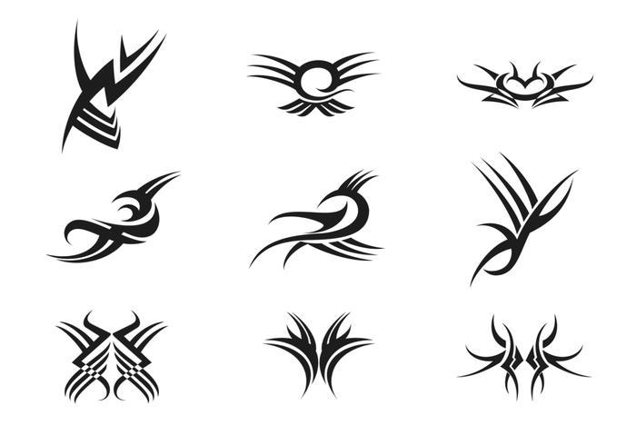 700x490 Tribal Tattoo Vector Pack