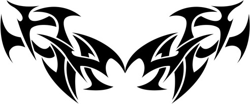 492x205 Free Tribal Tattoo Designs Vector Free Vector Download (839 Free
