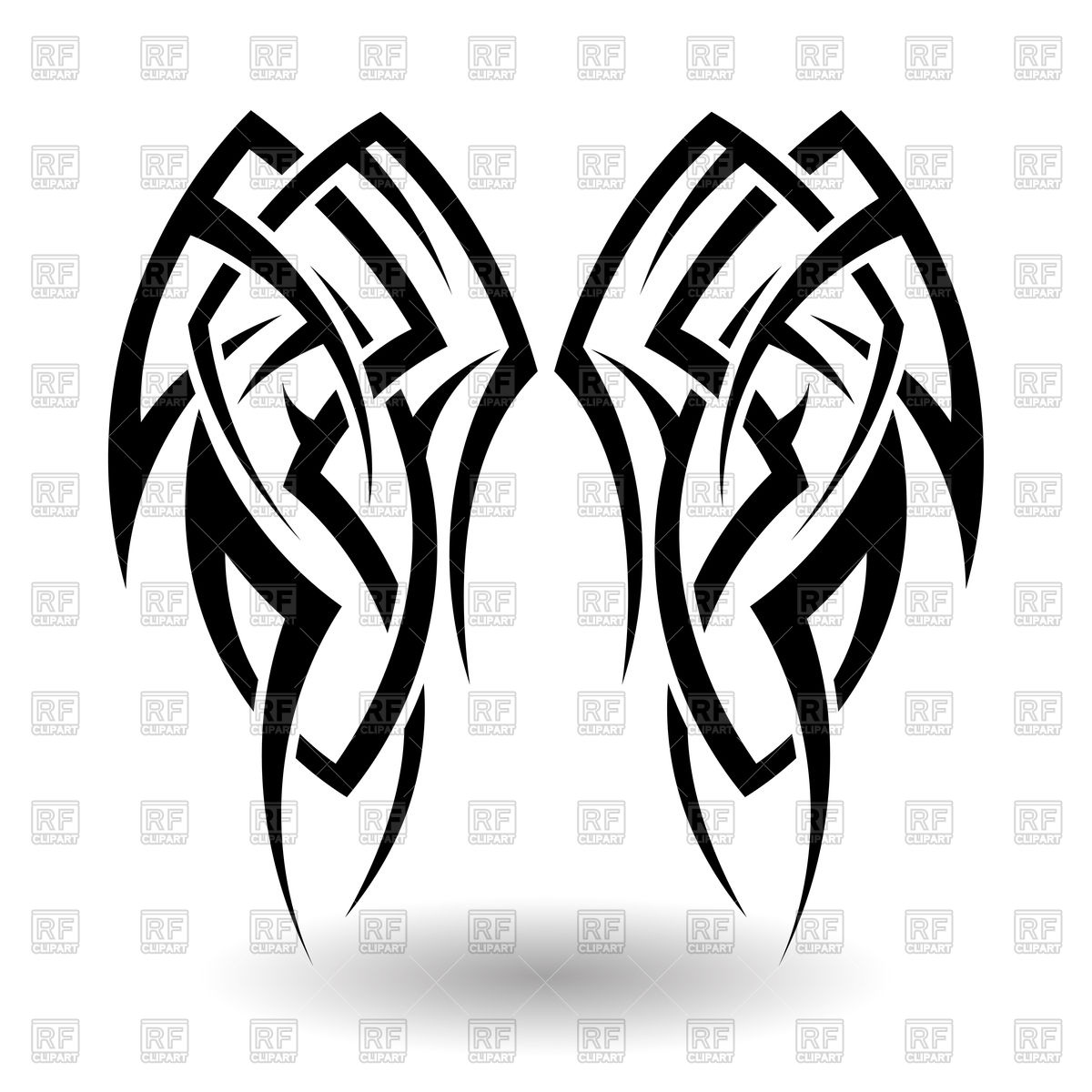 1200x1200 Hand Drawn Tribal Tattoo Vector Image Vector Artwork Of Design