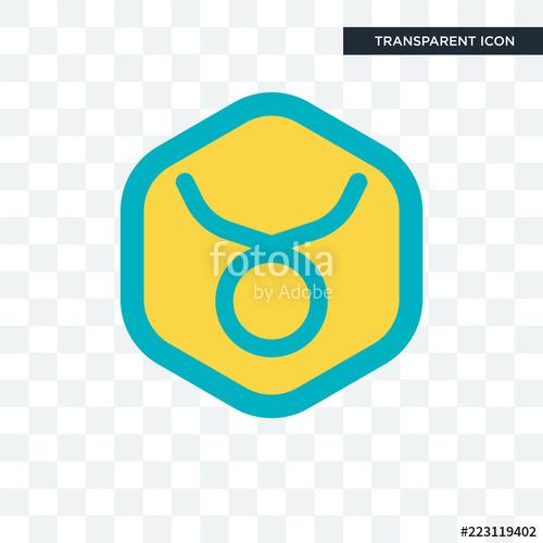 500x500 Taurus Vector Icon Isolated On Transparent Background, Taurus Logo