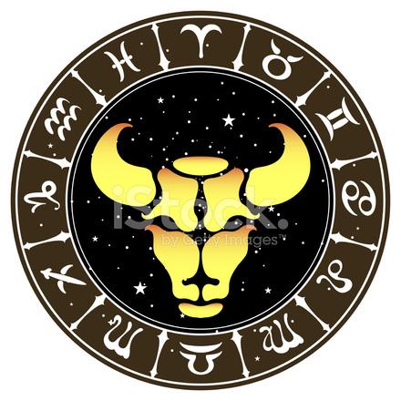 440x440 Zodiac Sign Taurus , Vector Illustration Stock Vector