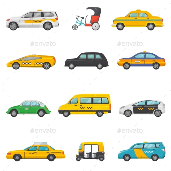 590x590 Taxi Vector Taxicab Transport And Yellow Car By Vectoristik