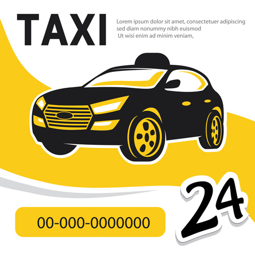 500x500 Taxi Poster Vector Poster Free Download