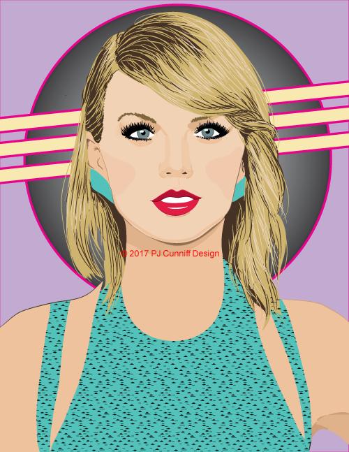 500x647 My Vector Portrait Of Taylor Swift Paul Cunniff