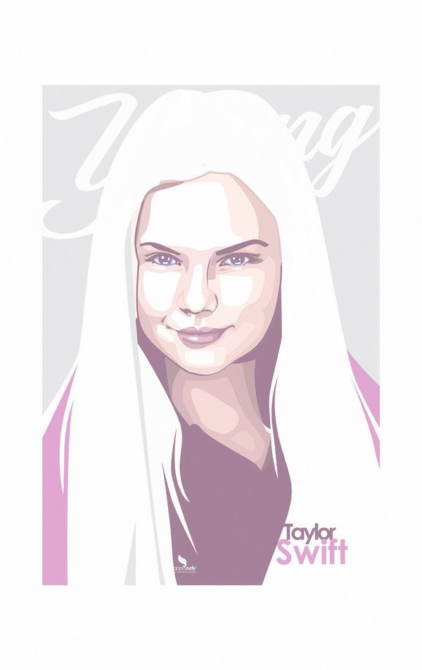 600x953 Young Of Taylor Swift Vector By Opparudy Vector Portrait