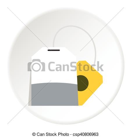 450x470 Tea Bag Icon, Flat Style. Tea Bag Icon. Flat Illustration Of Tea