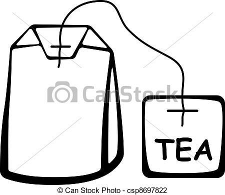 450x390 Vector Tea Bag Black Pictogram.