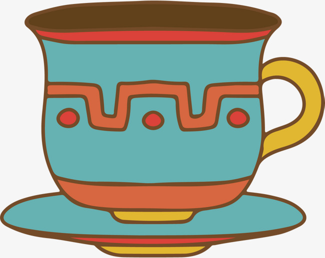 650x517 Vector Hand Painted Chinese Wind Tea Cup, Chinese Vector, Wind