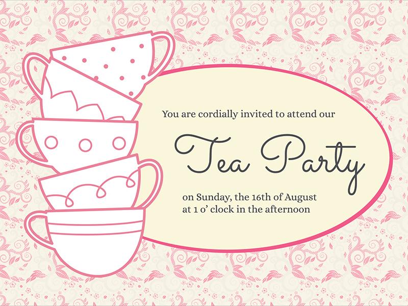800x600 Tea Party Invitation By Vivian Ho