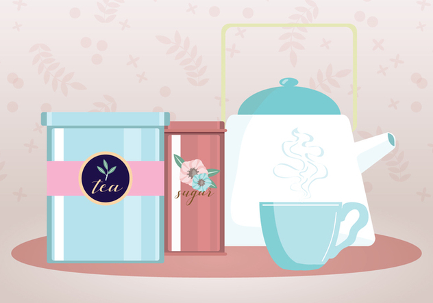632x443 Tea Party Vector Free Vector Download 443465 Cannypic