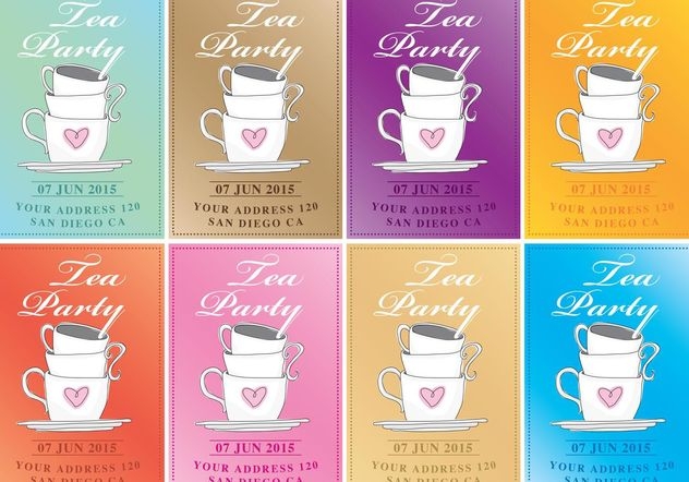 632x442 Tea Party Vector Invitations Free Vector Download 147611 Cannypic