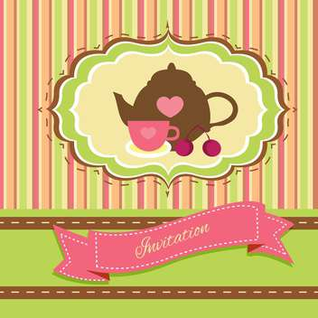 352x352 Tea Party Vintage Background Free Vector Download 134239 Cannypic
