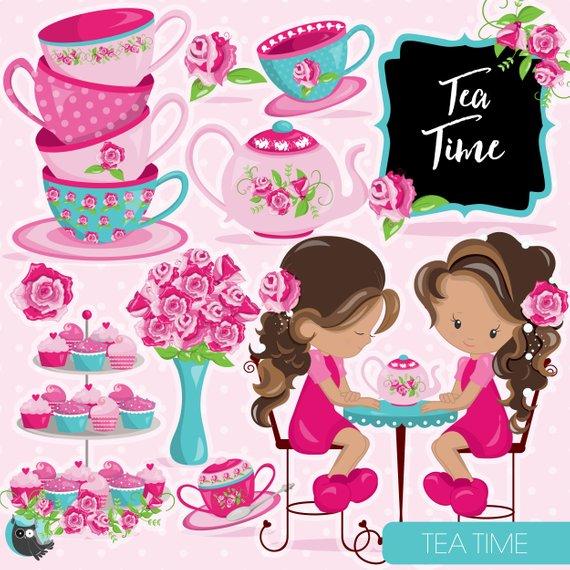 570x570 Tea Time Clipart Commercial Use, Tea Party Vector Graphics, Tea