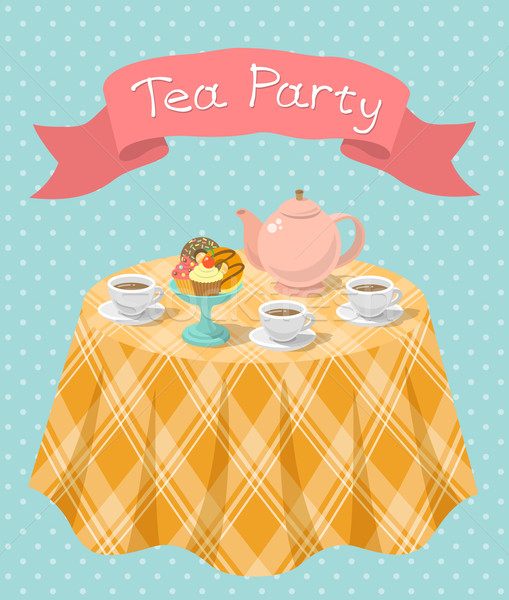 509x600 Fancy Tea Party Vector Illustration Vectorikart ( 5603610