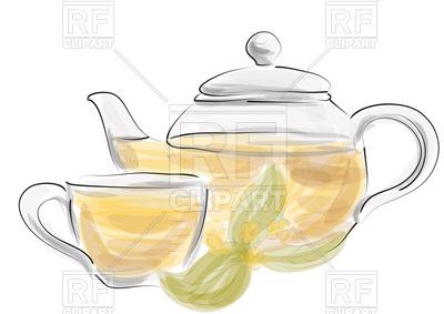400x283 Herbal Tea On White Background