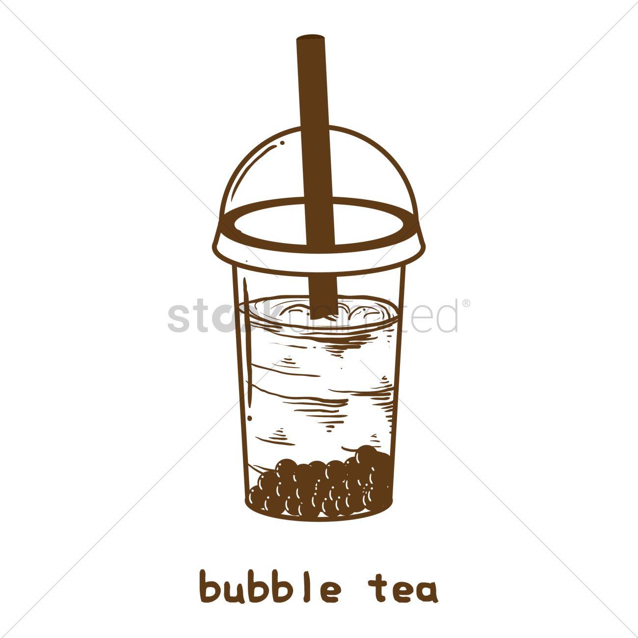 1300x1300 Bubble Tea Vector Image