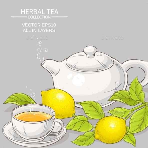 590x590 Lemon Tea Vector Illustration By Cuttlefish84 Graphicriver
