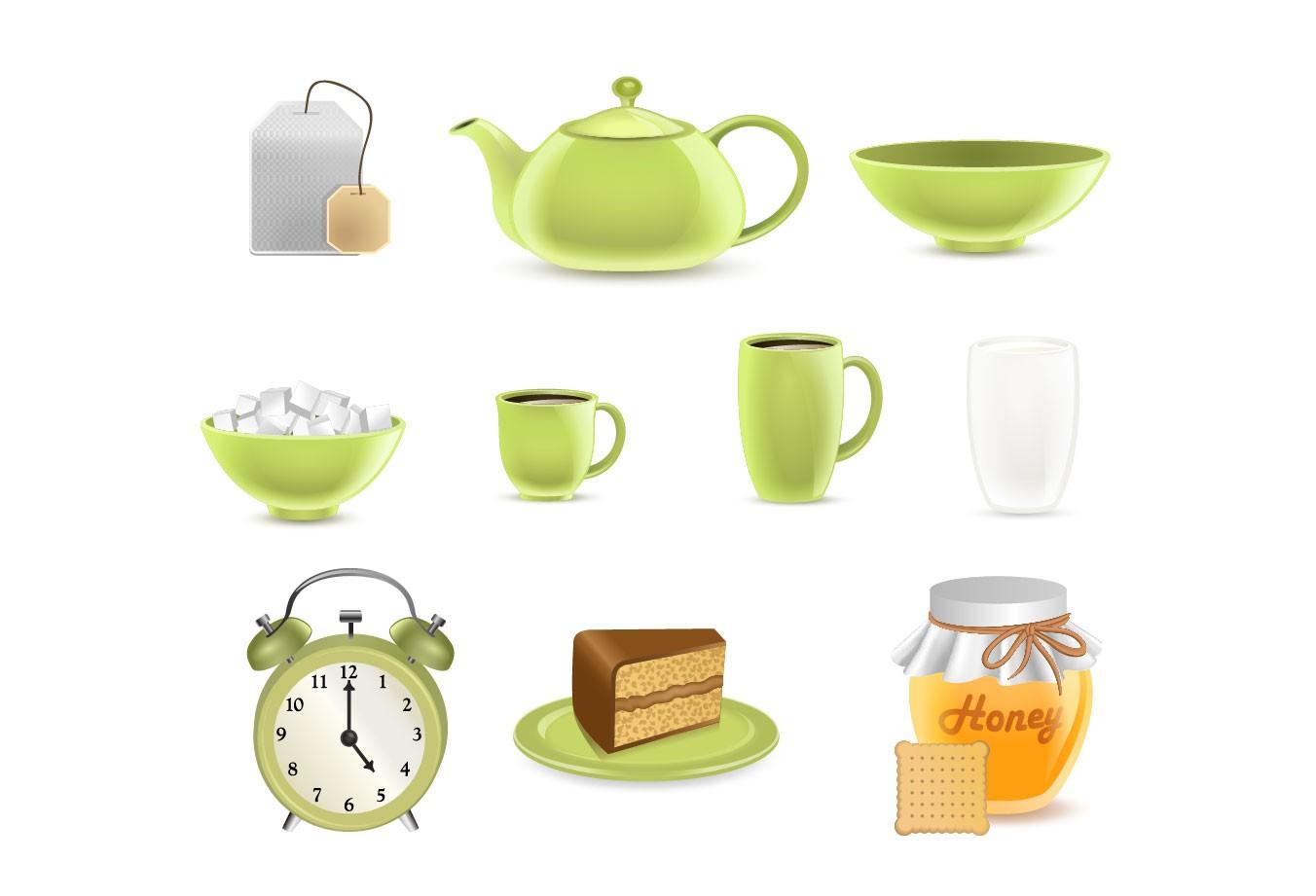 1352x921 Tea Vector Graphics Pack