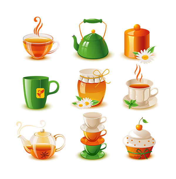 600x610 Tea And Refreshments Vector Icon Two