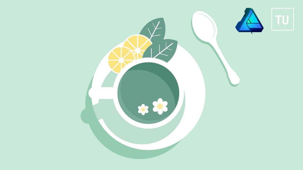 1280x720 The Mint Tea Vector Illustration