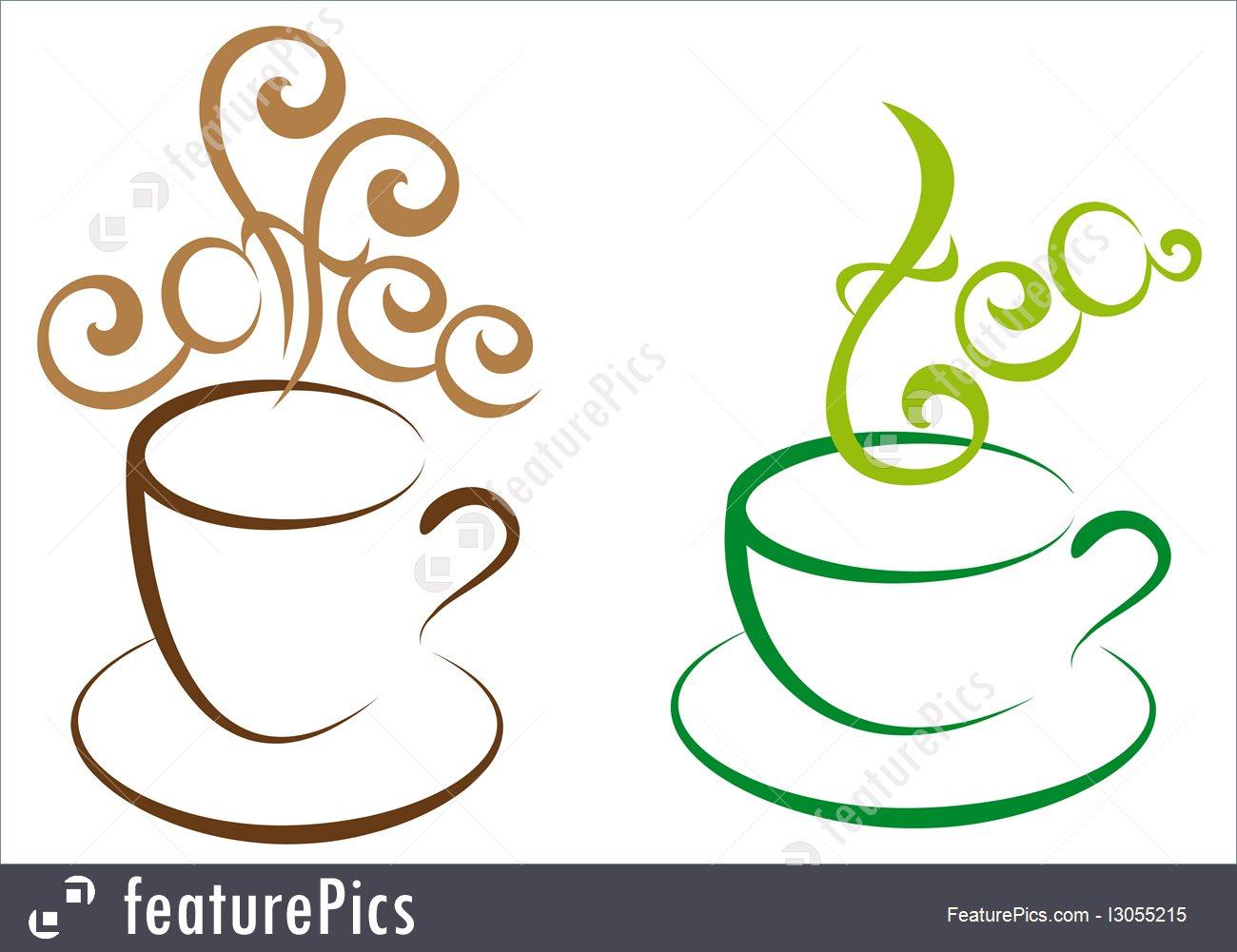 1300x1001 Coffee And Tea, Vector