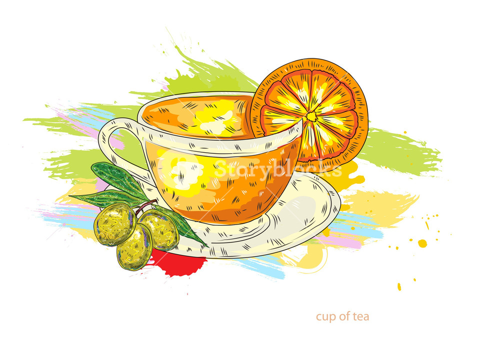 1000x683 Cup Of Tea Vector Illustration Royalty Free Stock Image