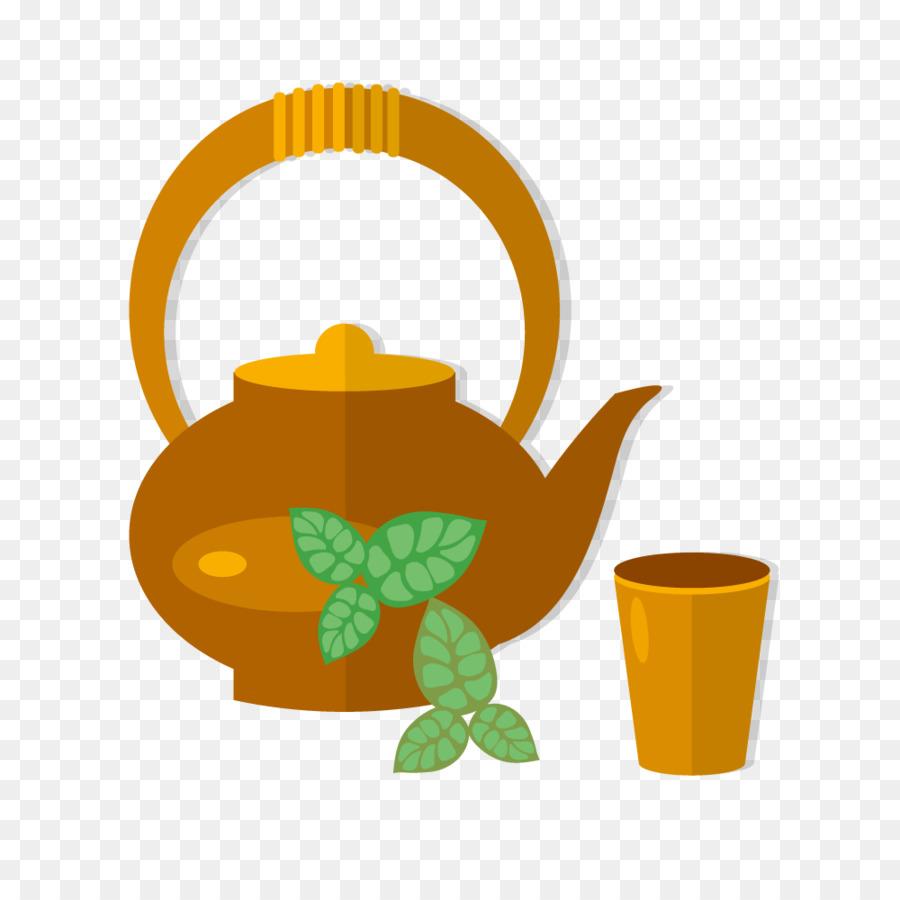 900x900 Download Teapot Teacup Green Tea Vector Green Leaf Tea Cup