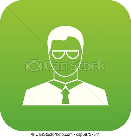 450x470 Teacher Icon Digital Green For Any Design Isolated On White Vector