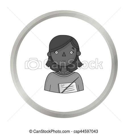 450x470 Teacher Icon In Monochrome Style Isolated On White Background