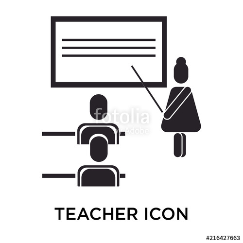 500x500 Teacher Icon Vector Sign And Symbol Isolated On White Background