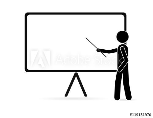 500x385 Teacher Icon. Vector Illustration