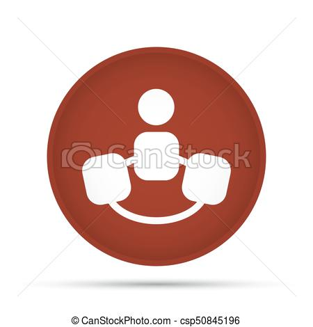 450x470 Team Icon On A Circle On A White Background. Vector Illustration.