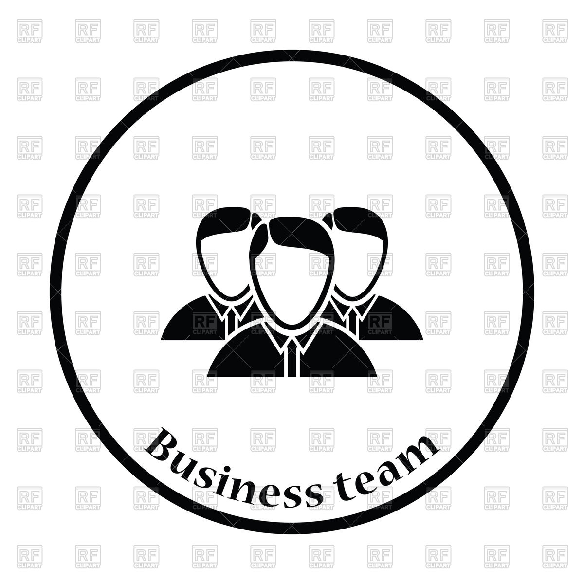 1200x1200 Business Team Icon Vector Image Vector Artwork Of People