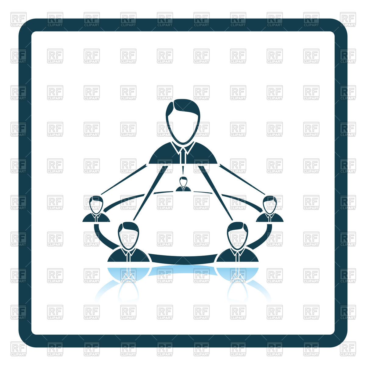 1200x1200 Business Team Icon Vector Image Vector Artwork Of Signs, Symbols