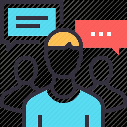 512x512 Communication, Conversation, Focus, Group, Human, People, Team Icon