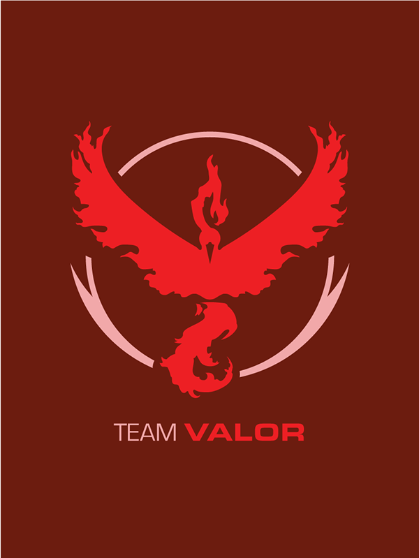 600x799 Pokemon Go Team Valor On Wacom Gallery